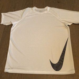 Nike Dri-Fit Work-out T-Shirt White Size Large